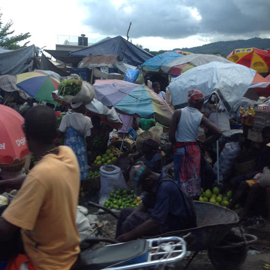 Street market in Port au Prince