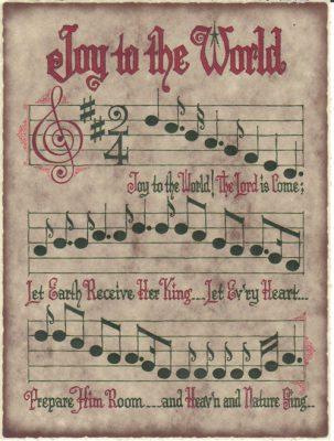 Christmas carol sheet music