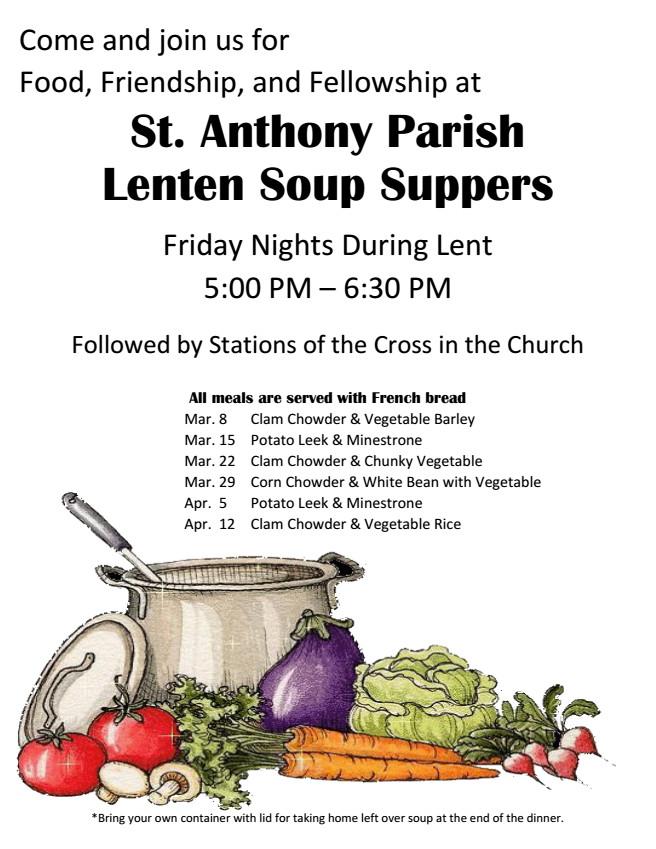 Lenten Soup Supper