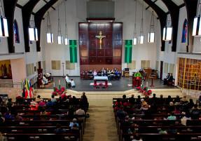 church during Mass