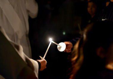 lighting candle