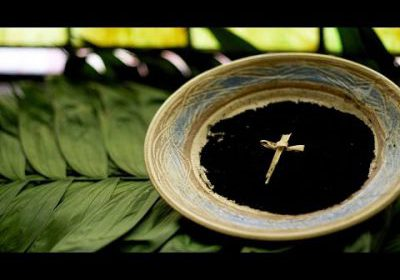Ashes and palm cross