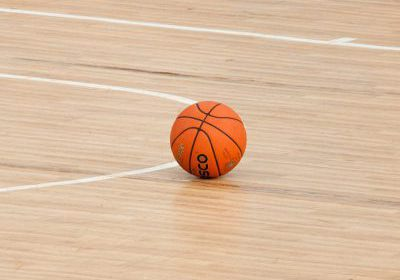 basketball in gym