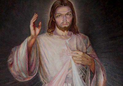 Jesus offering divine mercy